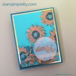 Painted Harvest Card with Copper Highlights!