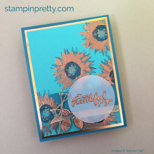 How to create a simple thank you card using Stampin' Up! Painted Harvest Stamp Set
