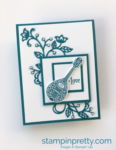 How to create simple love cards using Stampin' Up! Musical Season