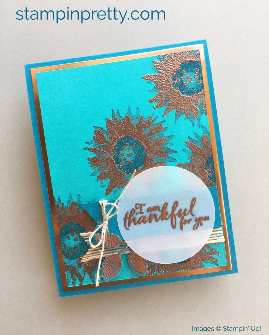 How to create simple thank you cards using Stampin' Up! Painted Harvest Stamp Set