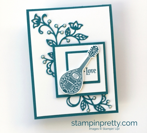 How to create this simple love card using Stampin' Up! Musical Season
