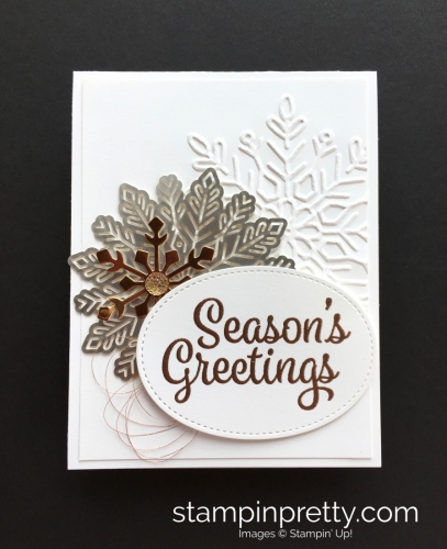 Learn how to create simple a snowflake holiday card