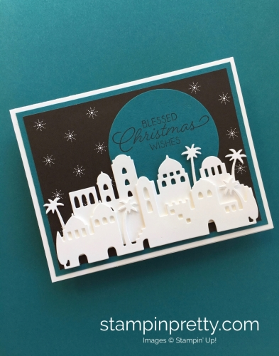 Learn how to create this simple Christmas card using Stampin' Up! Bethlehem Edgelits Dies