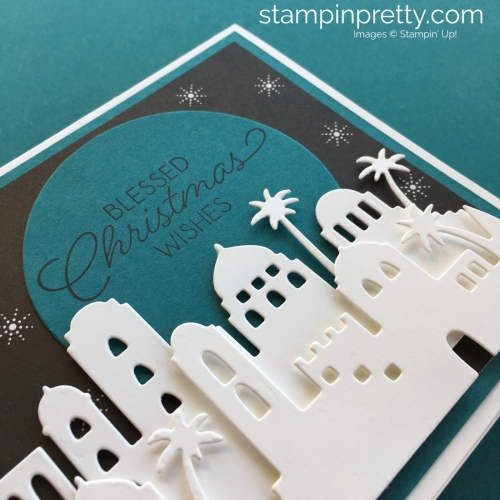 Learn how to create this simple Christmas card with Stampin' Up! Bethlehem Edgelits Dies