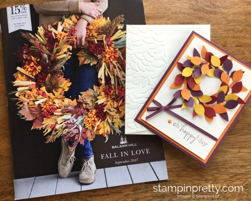 Stampin Up Leaf Punch Autumn Fall Birthday Card Ideas Inspiration - Mary Fish StampinUp
