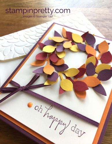 Stampin Up Leaf Punch Autumn Fall Birthday Cards Idea - Mary Fish StampinUp