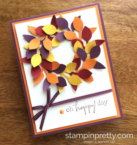 Stampin Up Leaf Punch Autumn Fall Birthday Cards Ideas - Mary Fish StampinUp