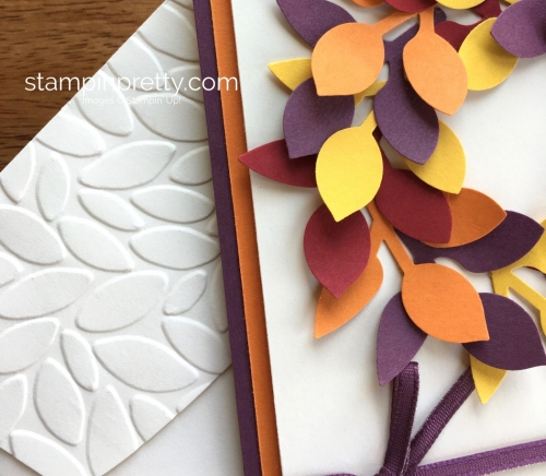 Stampin Up Leaf Punch Autumn Fall Birthdays Card Idea - Mary Fish StampinUp