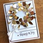 WOW! Video:  Leaf Punch Wreath in Metallics
