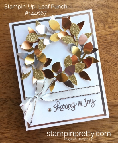 Stampin Up Leaf Punch Holiday Christmas Card Ideas - Mary Fish StampinUp