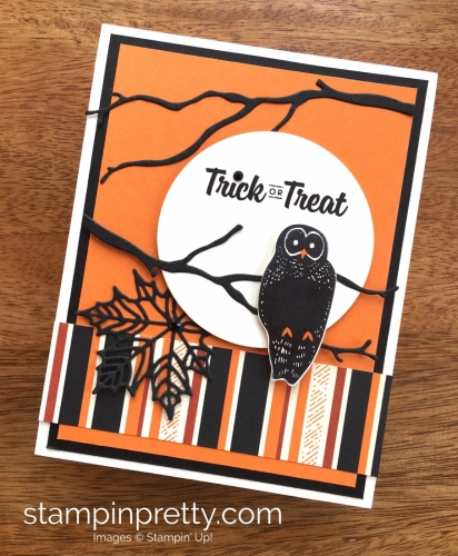 Stampin Up Spooky Cat Halloween Card Idea - Mary Fish StampinUp