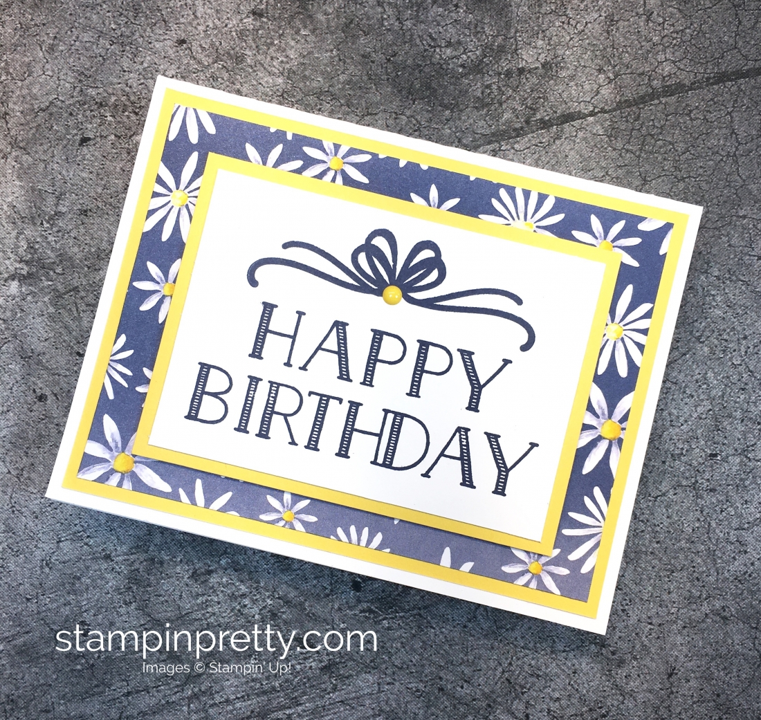 4 simple happy birthday cards stampin pretty create a simple birthday card using stampin up big on birthdays and delightful daisy bookmarktalkfo Images