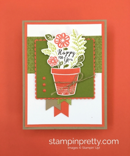 Create a simple birthday card using Stampin' Up! Grown with Love - StampinUp Mary Fish