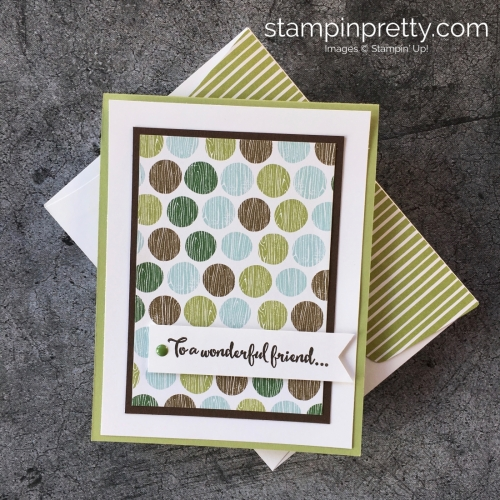 Create a simple thank you card using Stampin' Up! Dragonfly Dreams & Coffee Break Design Paper - StampinUp