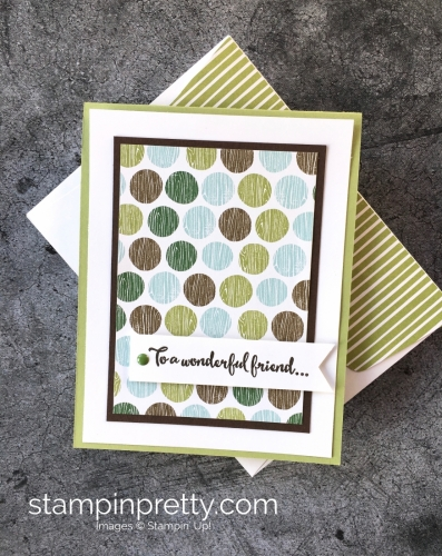 Create a simple thank you card using Stampin' Up! Dragonfly Dreams & Coffee Break - StampinUp Idea