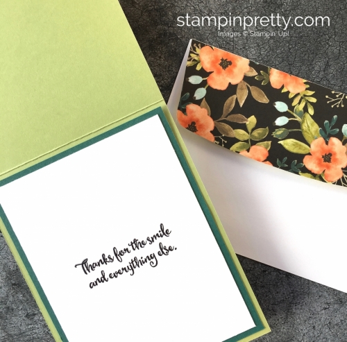 Create a simple thank you card using Stampin' Up! Dragonfly Dreams & Whole Lot of Lovely - StampinUp