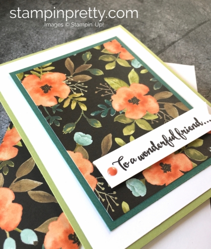 Create a simple thank you card using Stampin' Up! Dragonfly Dreams & Whole Lot of Lovely - StampinUp Cards