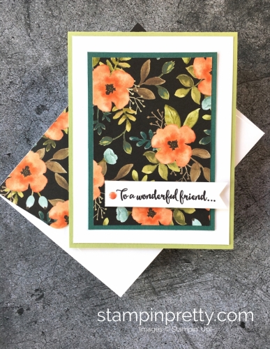 Create a simple thank you card using Stampin' Up! Dragonfly Dreams & Whole Lot of Lovely - StampinUp Idea