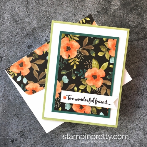 Create a simple thank you card using Stampin' Up! Dragonfly Dreams & Whole Lot of Lovely - StampinUp card ideas