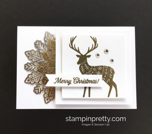 Create this simple Christmas card using Stampin' Up! Merry Patterns Stamp Set - StampinUp card ideas