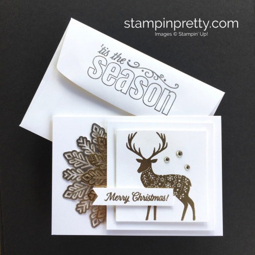 Create this simple Christmas card using Stampin' Up! Merry Patterns Stamp Set - StampinUp Mar Fish