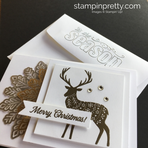 Create this simple Christmas card using Stampin' Up! Merry Patterns Stamp Set - StampinUp ideas