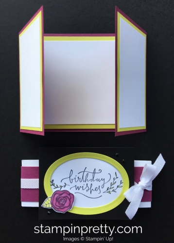 Create this simple fold birthday card using Stampin' Up! Happiest of Days Stamp Set - StampinUp