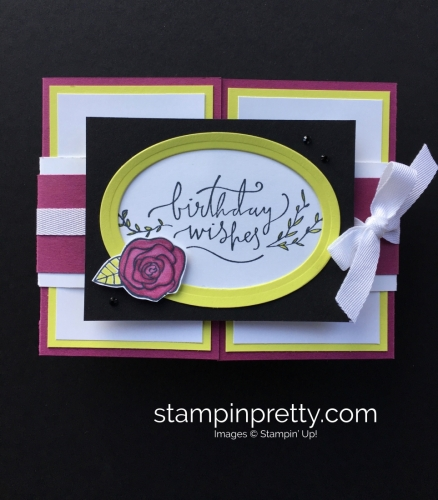 Create this simple fold birthday card using Stampin' Up! Happiest of Days Stamp Set - StampinUp Mary Fish