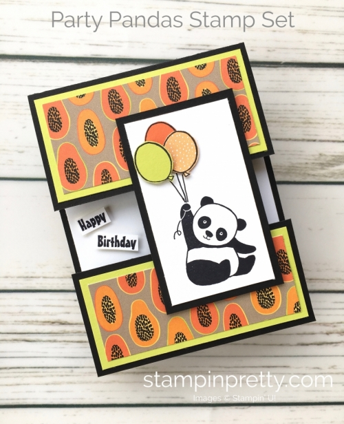 Create this simple birthday card using Stampin' Up! Panda Party stamp set - Mary Fish StampinUp Card