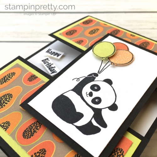 Create this simple birthday card using Stampin' Up! Panda Party stamp set - Mary Fish StampinUp Card Ideas
