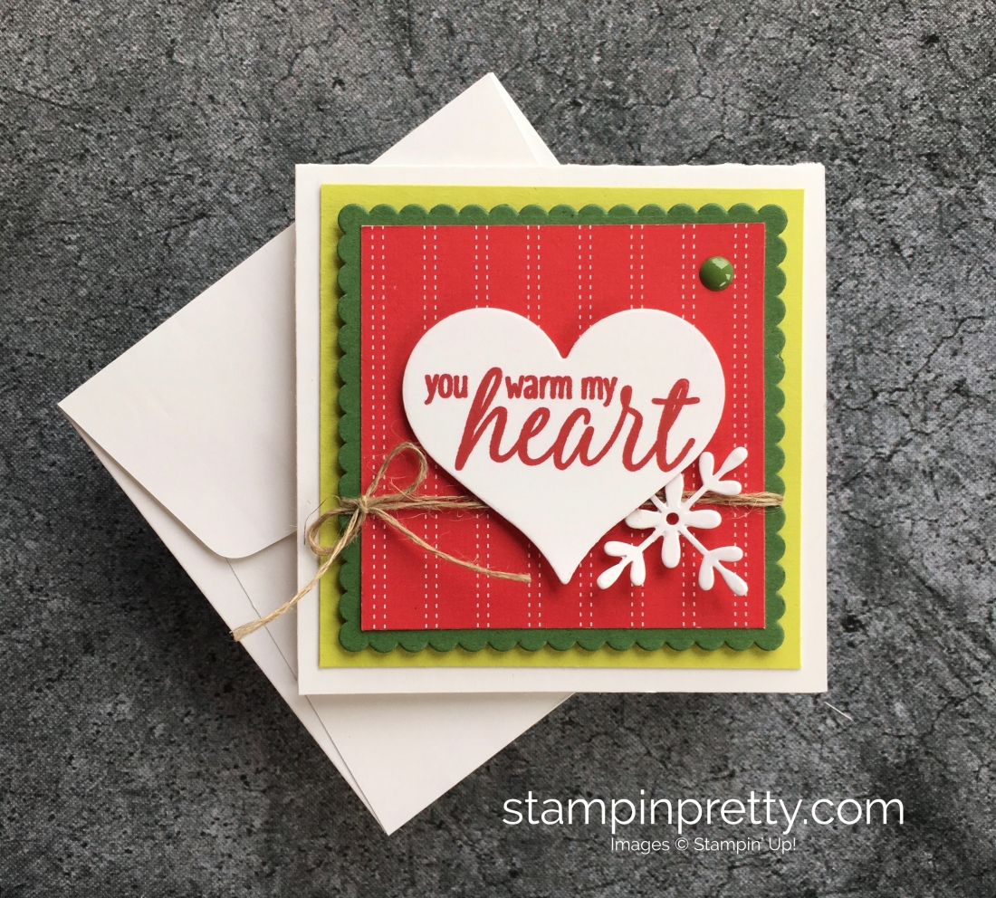 3 x 3 mini holiday cards part 2 stampin pretty learn how to create a simple 3 x 3 holiday card using stampin up kristyandbryce Choice Image
