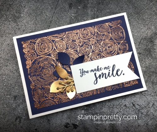 Learn how to create a simple thank you card using Stampin' Up! Tree Rings stamp set - Mary Fish StampinUp idea