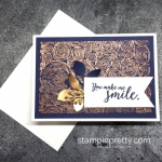 Copper Embossed Tree Rings Thank You Card