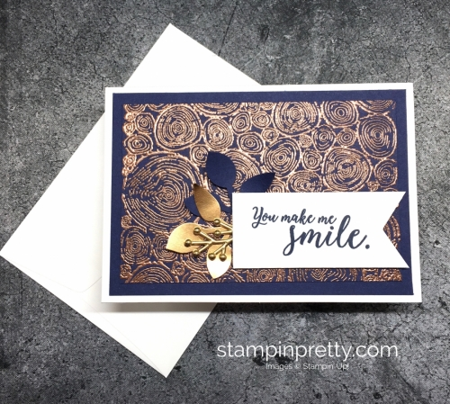 Learn how to create a simple thank you card using Stampin' Up! Tree Rings stamp set - Mary Fish StampinUp ideas