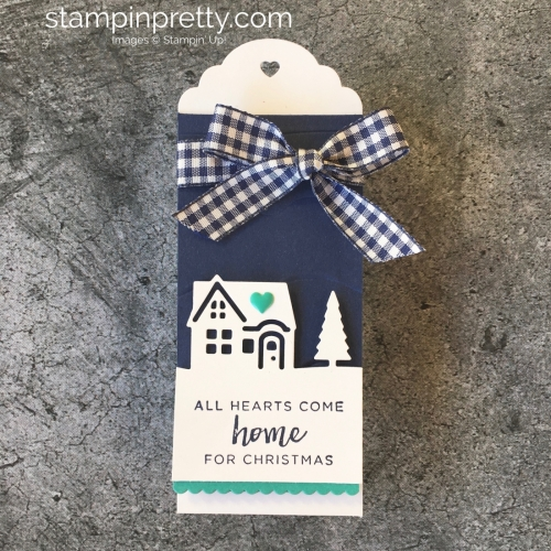Learn how to create simple holiday tags using Stampin' Up! Hearts Come Home & Hometown Greetings - Mary Fish StampinUp Christmas