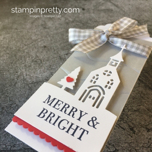 Learn how to create simple holiday tags using Stampin' Up! Hearts Come Home & Hometown Greetings - Mary Fish StampinUp Christmas gift idea