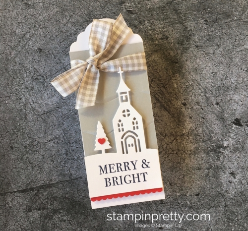 Learn how to create simple holiday tags using Stampin' Up! Hearts Come Home & Hometown Greetings - Mary Fish StampinUp Smokey Slate
