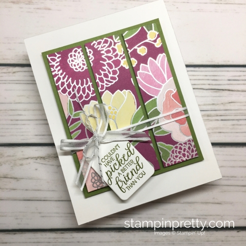 Learn how to create this simple friendship card using Stampin' Up! Sweet Soiree Designer Series Paper & Beautiful Bouquet Stamp Set - Mary Fish StampinUp card idea