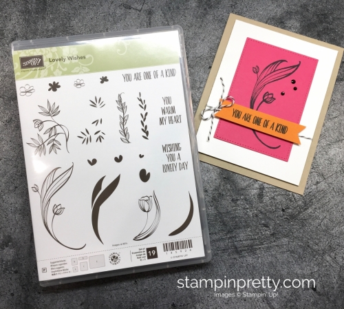 Learn how to create this simple thank you card using Stampin' Up! Lovely Wishes Stamp Set - Mary Fish StampinUp