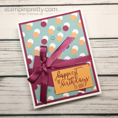 Learn how to create a simple birthday card using Picture Perfect stamp set - Mary Fish StampinUp
