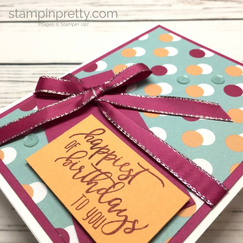 Learn how to create a simple birthday card using Picture Perfect stamp set - Mary Fish StampinUp Idea