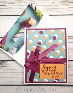 Learn how to create a simple birthday card using Picture Perfect stamp set - Mary Fish StampinUp Ideas