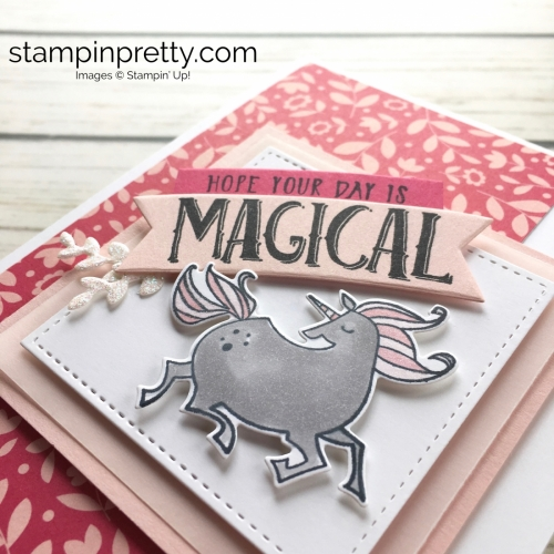 Learn how to create a simple birthday card using Stampin Up Magical Day & Magical Mates - Mary Fish StampinUp Idea