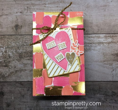 Learn how to create a simple gift box using Stampin Up Lots to Love Box Freamelits Dies - StampinUp Mary Fish Idea