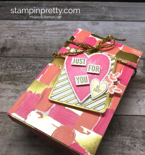 Learn how to create a simple gift box using Stampin Up Lots to Love Box Freamelits Dies - StampinUp Mary Fish Ideas