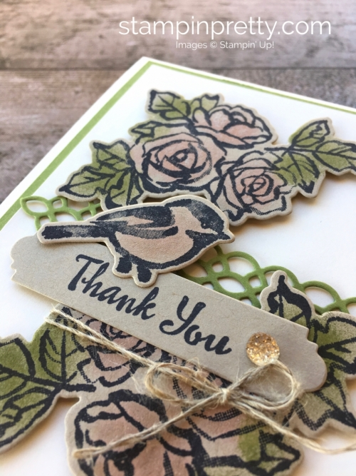 Learn how to create a simple thank you card using Stampin Up Petal Passion Stamp Set - Mary Fish StampinUp Idea