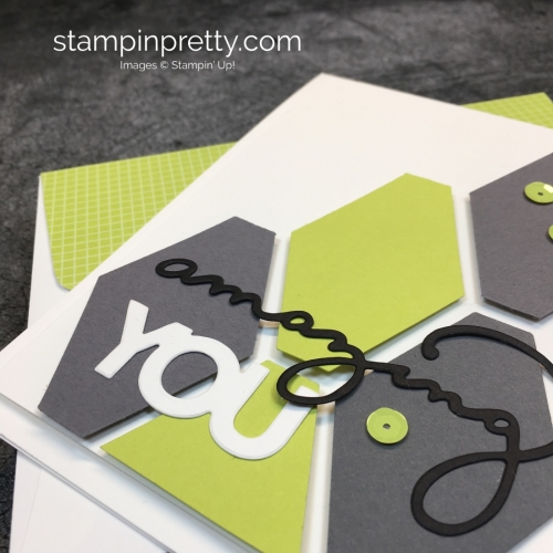 Learn how to create this simple birthday card using Stampin Up Celebrate You Dies & Tailored Tag Punch - Mary Fish StampinUp Idea