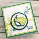 Sneak Peek:  Beautiful Peacock Friend Card