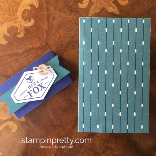 Learn how to create this simple masculine card using Stampin Up Tailored Tag Punch & Truly Tailored Stamp Set - Mary Fish StampinUp Belly Band
