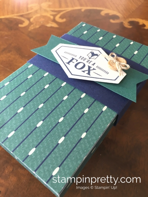 Learn how to create this simple masculine card using Stampin Up Tailored Tag Punch & Truly Tailored Stamp Set - Mary Fish StampinUp Ideas